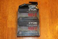 2 Pack TDK SUPERIOR HIGH GRADE VHS-C 30 MIN BLANK CAMCORDER TAPES SEALED