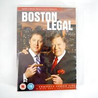 Boston Legal - Complete Season 5 (4 Disc DVD Set, 2008) -Region 2 UK PAL-