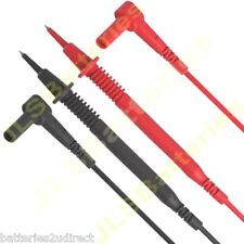 Right  Angled 4mm Test  Probe lead set fits fluke Multimeter Shrouded