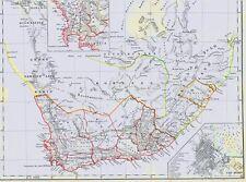 Landkarte SÜDAFRIKA🦏🌴🦍🦓🦒🦁🐗🐘Kapstadt Cape Town - Lithographie 1844🇿🇦