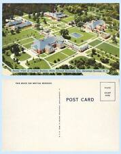 Aerial View State Owned Spa Saratoga Springs New York Postcard