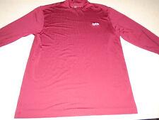 Nike Golf FIT DRY Mens Burgundy Long Sleeve Mock Turtleneck Golfing Shirt Large