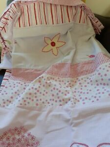 Next Girls Single Duvet Cover And Matching Pillowcase In Applique Floral And...