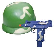 Soldaten Spielzeug Set - Military Helm und Uzi mit Sound zu Kinder Armee Kostüm