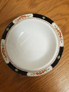 TILLSON Ware BURSLEM ENGLISH GILLSON DELFT WARE bowl dish Orange & Black