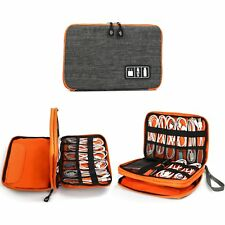 Electronics Organizer, Jelly Comb Electronic Accessories Double Layer Cable