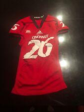Game Worn Used Adidas Cincinnati Bearcats Football Jersey #26 Size M FREY