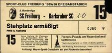 Ticket II. BL 85/86 SC Freiburg - Karlsruher SC, Stehplatz ermäßigt