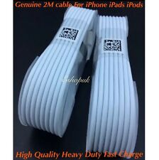 2x 2M Fast Heavy Duty Usb Data Lead Adaptor Cable For iPhone 6 7 8 Plus x XR XS