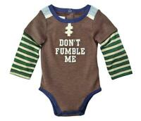 "Mud Pie Kids ""Don't Fumble Me"" Football Themed Baby Bodysuit Crawler Top"