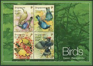 Singapore 1017a,MNH. Tropical birds 2002.Sunbird,Bluebird,Oriole,Woodpecker