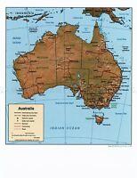 MAP GEOPOLITICAL CIA 1999 AUSTRALIA HISTORIC LARGE REPLICA POSTER PRINT PAM1405