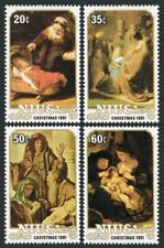 Niue 346-349,MNH.Michel 448-451. Christmas 1981,Rembrandt paintings.