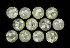 Natural Loose Diamond Round Rose Cut Green Grey Color I3 Clarity 12 Pcs KR44