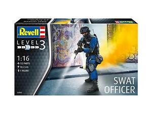 Swat Officer, Revell Figurines Kit de Montage 1:16, Art. 02805