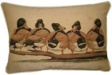 Bad Boys Ducks Oblong Woven Tapestry Cushion Cover