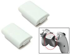 2 x XBOX 360 Manette sans-fil AA Lot de batteries Coque Arrière Support (Blanc)