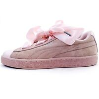 New Puma Suede Heart Bubble Pink Sneakers Shoes Womens Size 8