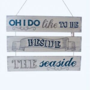 Oh I do like to be beside the seaside Shabby Chic Sign