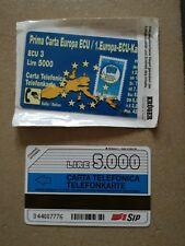 Telefonkarte -1. Europa ECU Karte - 5000 lire selten rar
