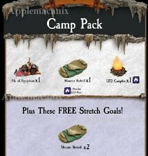 NEW Dwarven Forge Caverns Deep! Camp Pack Add-On Dressing Pieces