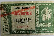 BIGLIETTO CALCIO CAMPIONATO SERIE A 1976-77 SAMPDORIA - JUVENTUS