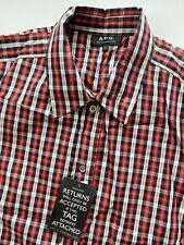 Brand New A.P.C Multicoloured Cotton Plaid Checked APC Shirt - L