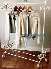 Vintage Style classy Shabby Chic Cream Clothes Garment Rail Metal Ornate