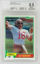 1981 Topps Joe Montana Rookie Card RC BGS 8.5 w/9 and 9.5 (Top Sports Cards)