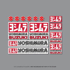 SKU2414 - Set of 14 Yoshimura Exhausts - Suzuki -  Decals - Stickers
