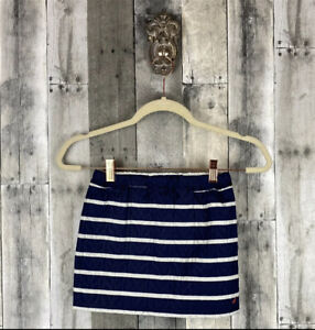 Nautical Navy Blue Striped Quilted Skirt Size 5/6 New!