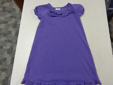 Hanna Andersson Knit Short Sleeve Purple Ruffles Dress Girls 120 6 7