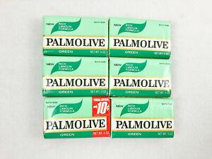 6 VINTAGE GREEN PALMOLIVE BATH SIZE SOAP - 5 oz. - COLGATE PALMOLIVE CO.