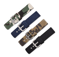2piece Fabric Watch Strap 22mm Band Military Army Diver for Seiko Skx007 Skx009