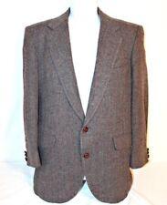 VINTAGE MW Mens Sports Jacket 40S 100% Wool Herringbone Tweed Blazer Full Lining