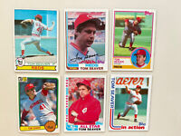 Tom Seaver 16-card Lot! Reds Red Sox White Sox! HOF!
