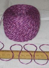 50g Pink & Purple Marl 4 ply knitting yarn 51% wool 49% acrylic SOFT Mixed Tulip