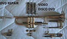 DVD para la reparación de trumpet, repair, trompeta, trompette, trompeta, tromba DVD