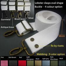 "38mm 1.5"" Clip On crossbody webbing shoulder strap Replacement Cotton Canvas bag"