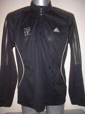 London Olympics 2012 Adidas Adult Large Running Shirt Top Long Sleeve Black Gym