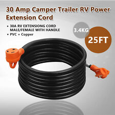25 Ft. 30 Amp RV Extension Cord Male & Female with Handles