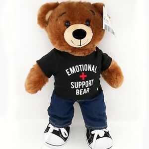 BABW Emotional Support Teddy Bear Plush Bearemy Stuffed with Denim Jeans & Shoes