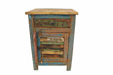Bedside Table Solid Reclaimed Wood Bedroom Storage Side Cabinet FREE DELIVERY