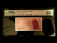 Indonesia 5 Sen 1964 Banknote World Paper Money UNC Currency - PMG Certified