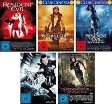 5 DVDs * RESIDENT EVIL  1 - 5 IM SET - Milla Jovovich - FSK 18 # NEU OVP +