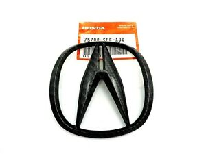 Acura RDX TSX Black Carbon Fiber Emblem Front Grille Bumper Badge OEM Logo