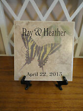 Personalized WEDDING Tile. Create Your Own Design.Monogram