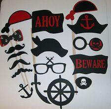 17 pcs DIY-Photo Booth Props Mustache on a stick Pirates (2055D)