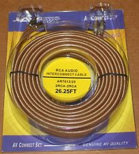 AV Link Pr Audio RCA Cable AR7812 - 26.25 ft, Brand NEW