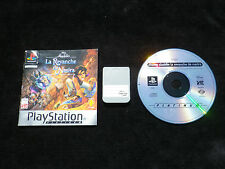 LOT CARTE MEMOIRE + JEU PLAYSTATION PS1 : DISNEY ALADDIN LA REVANCHE DE NASIRA
